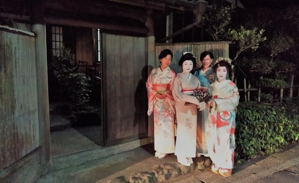 The Geisha of Gokurakuji outside house