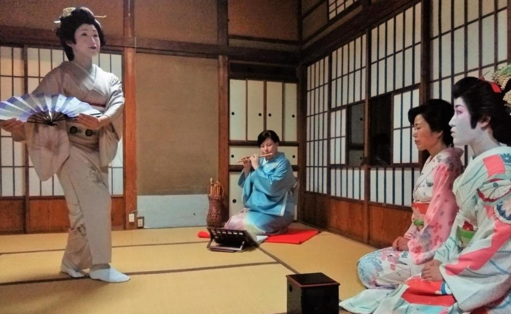 The Geisha of Gokurakuji performing