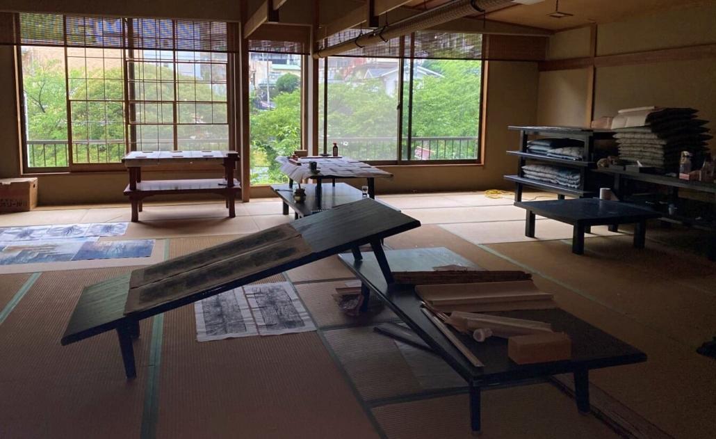 Yugawara ryokan 2nd floor banquet room
