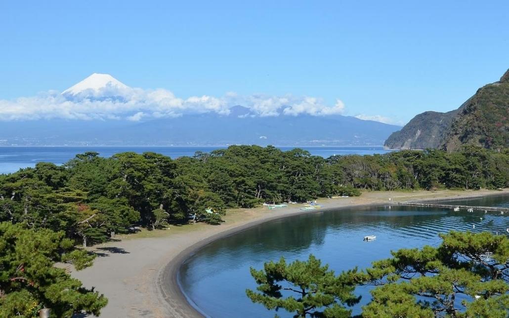 Japanese beach front