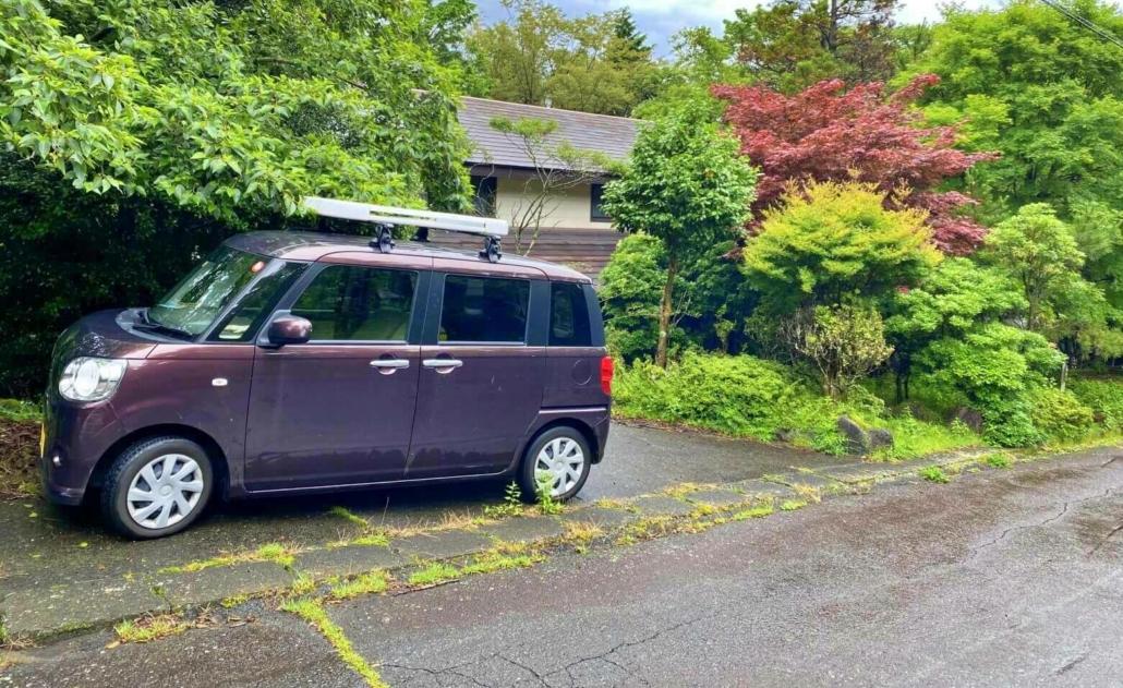 Pulling up to the Shizuoka cabin
