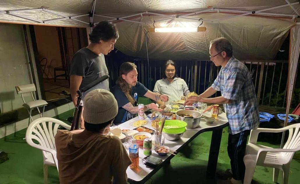 Barbecue dinner in Yugawara