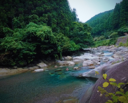 River at the Earth Hostel in Nikko