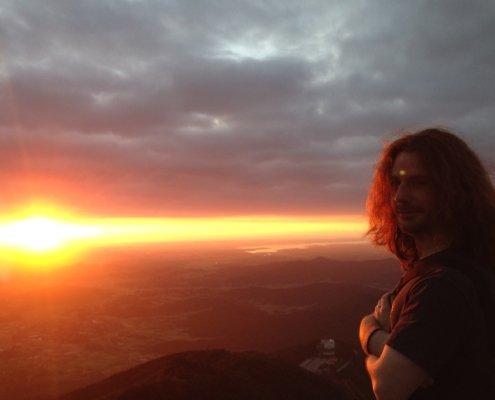 Sunrise atop Tsukuba mountain