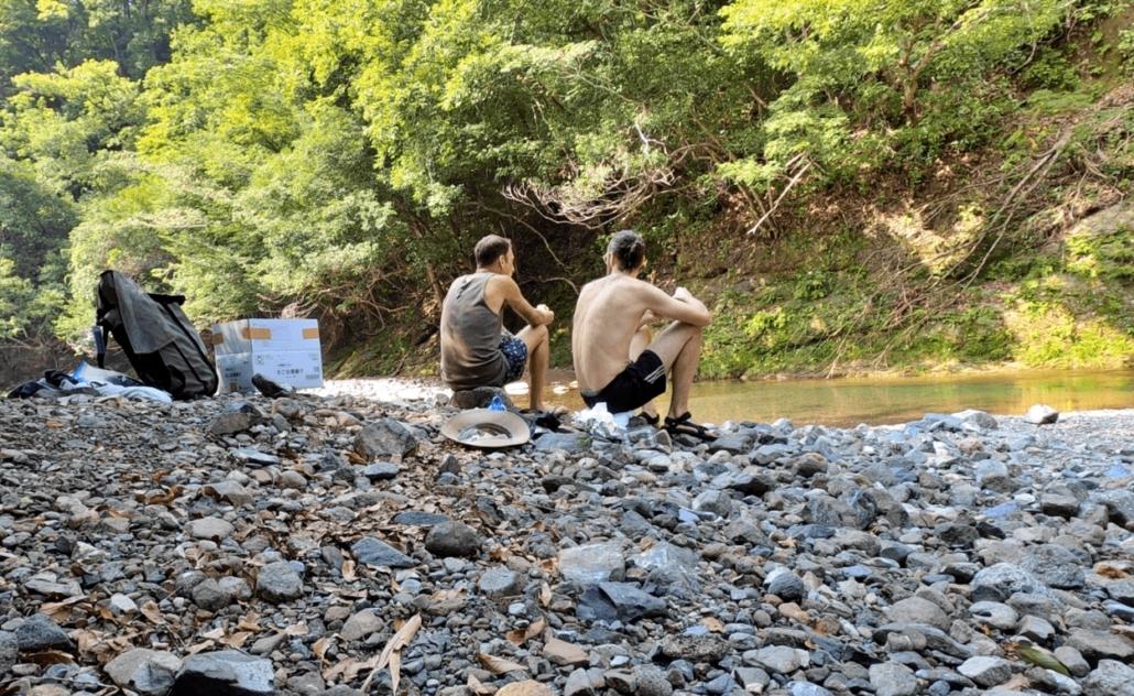 Lunch at Fujino river