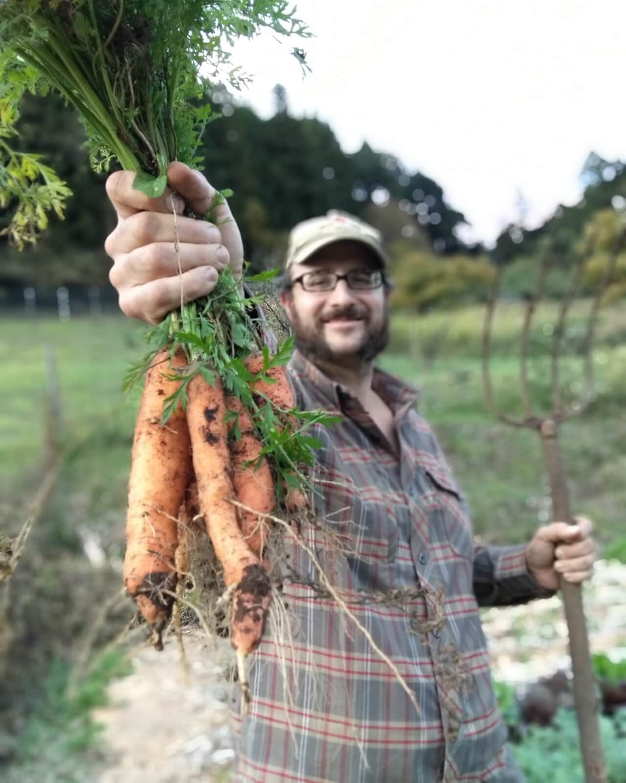 Byron with carrots