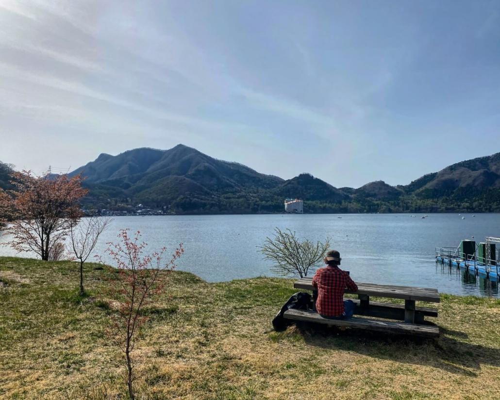 Matthew Ketchum doing business lakeside in Takasaki